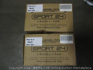 Power Block GF-SPDBLK24 Adjustable SpeedBlock Dumbbells (Retail $126.00)