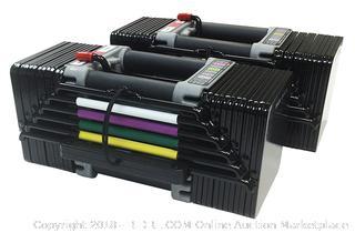 Power Block Elite Dumbbells (Retail $428.00)