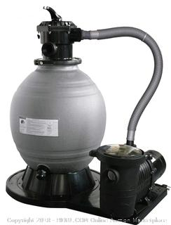 Blue Wave 22-Inch Sand Filter System with 1-1/2 HP Pump for Above Ground Pools (Retail $321.00)
