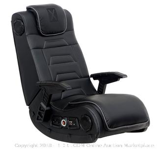 X Rocker 51259 Pro H3 4.1 Audio Gaming Chair, Wireless (Retail $179.00) - Factory Sealed - Minor Package Damage Only