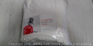 King Flannel Sheet Set