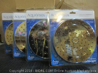 4- Aqua Vista Single Spray Rain Shower Heads