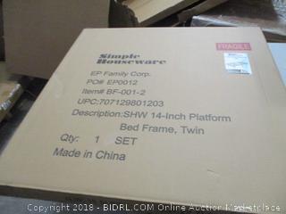 14 inch Platform Bed Frame Twin