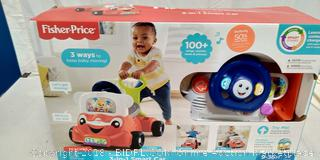 Fisher-Price Laugh & Learn 3-in-1 Smart Car  - New