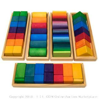 Colorful Wooden Blocks - New  (Online $132)