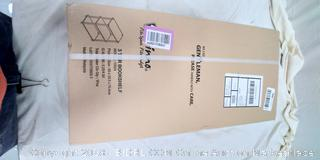 Furinno 10024LC/BK Turn-N-Tube 3-Tier Compact Multipurpose Shelf Display - (Online $20)