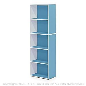 5-Tier Reversible Color Shelf Bookcase - New - (Online $30)