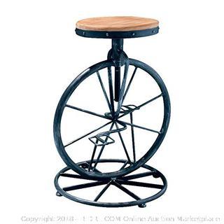 Bicycle Wheel Adjustable Bar Stool - (Online $184+)