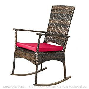 Wicker Rocking Chair Patio - New - (online $75+)