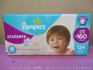 Pampers Cruisers Diapers  124 Diapers