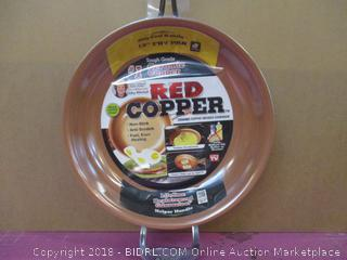 "Red Copper  12"" Fry Pan"