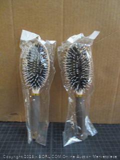2-Yolika Boar Bristle Paddle Detangling Brush for Men and Women for Wet and Dry Hair