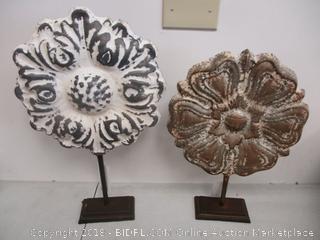 House Decor Metal Flowers
