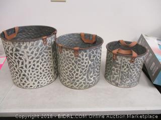 Metal Baskets Set of 3