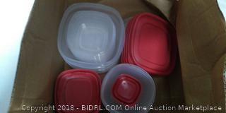 Red Rubbermaid Tupperware