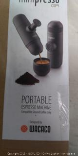Wacaco Minipresso GR, Portable Espresso Machine (Online $50)