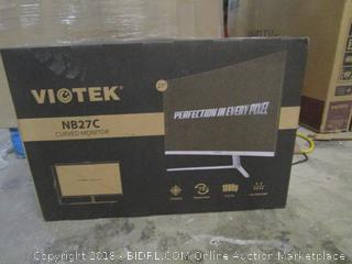 VIOTEX NB27C Curved Monitor  Powers On See Pictures