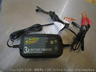 Battery Tender 3A Battery Charger and Maintainer with Positive & Negative Battery Cable Adapters