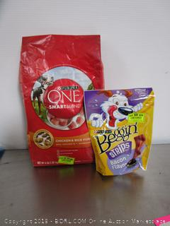 Purina One Smart Blend Dog Food - Purina Beggin Strips