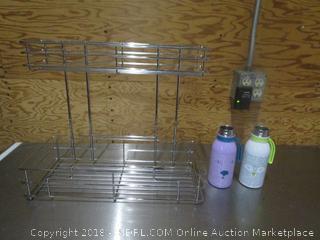 Wire Organizer & Stainless Steel Water Bottles