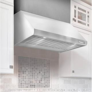 NXR Stainless Steel Range Hood Chimney Cover Extension 30x12x12 inches