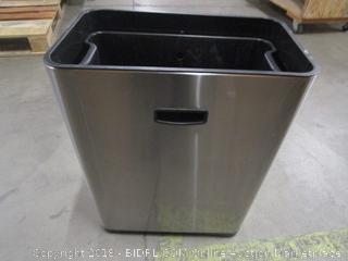 Medium Sized Stainless Steel Trash Bin