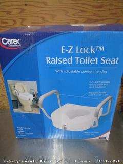 Carex E-Z Lock Raised Toilet Seat
