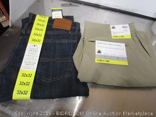 Mens UB Tech 32x30 Chinos and Lucky Brand Jeans 32x32