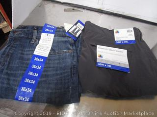 Mens Lucky Brand Jeans 36x34 and UB Tech Pants 36x30