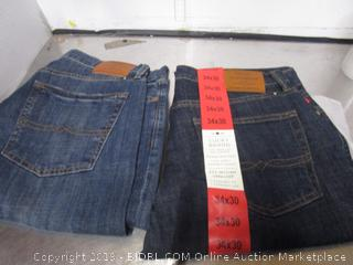 Mens Lucky Brand Jeans 34x30 and 34x32