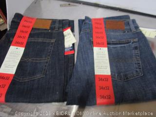 Mens Lucky Brand Jeans 34x32