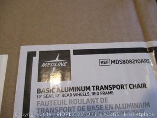 Medline Basic Aluminum Transport Chair