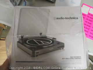 audio-technic fully automatic belt-drive stereo turntable
