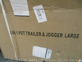 2 in 1 Pet Trailer & Jogger Large