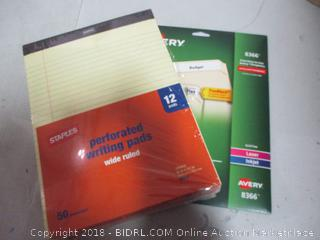 Note Pads  & File Folder Labels