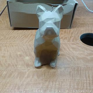 Candle Bulldog Low Poly Latte