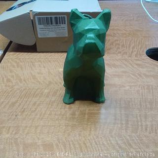 Candle Bulldog Low Poly Dark Green