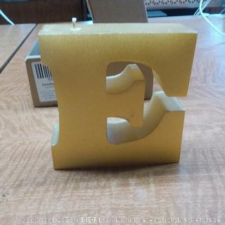 Candle Letter E Classic Gold