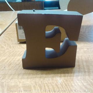 Candle Letter E Brown