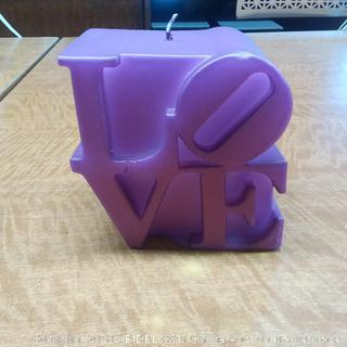 Candle Love Sign Violet