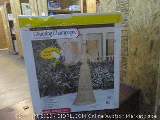 Glittering Champagne Animated Lighted Sculptured