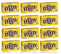 M&M's Peanut Theater Box - 3.4 oz. Box - 12 ct. (online $25)