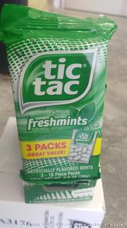 Tic Tac Fresh Mint Multi Pack -  8 packages include 3 packs in each package