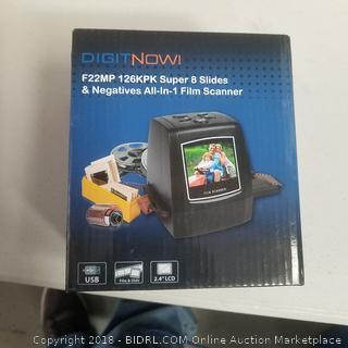 Digit Now F22MP 126KPK Super 8 Slides & Negatives All-In-1 Film Scanner (Online $90)