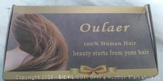 "Outlaer 22""  Brunette 100% Human Hair Wig including Wig Cap-NEW"
