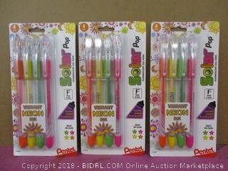 Vibrant Neon Ink Pens Factory Sealed