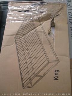 Zinus Modern Studio 14 Inch Platforma Bed Frame / Mattress Foundation with Wood Slat Support, King