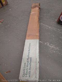 Zinus Quick Lock 14 Inch Metal Platform Bed Frame with Headboard, Queen