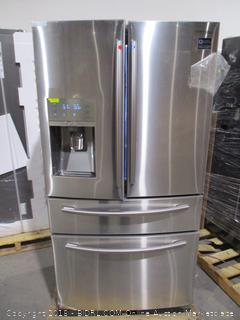 Samsung Refrigerator Powers on, Twin Cooling Plus, Digital Inverter, Scratched  See Pictures