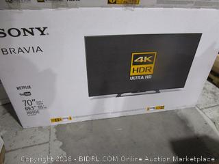 "Sony Bravia 70"" 4K Ultra HD Smart TV"